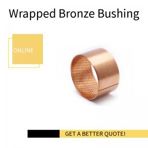 China Wrapped Perforated Bronze Bushing | CuSn8 Material on sale