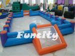 Encerado inflável gigante do PVC do campo de futebol 0.55MM para o entretenimento exterior
