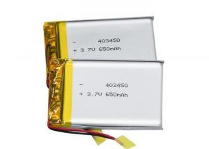 China Prismatic 3.7V 403450 650mah Lithium Polymer Battery Pack For POS Machine on sale
