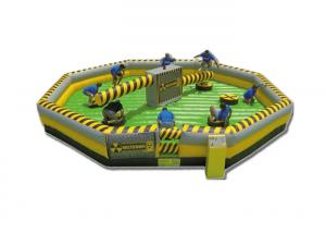 China Customized Child Inflatable Sports Games / Outdoor Wipeout Toys on sale