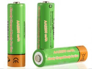China NiMH Battery AA2200mAh 1.2V Ready to Use on sale