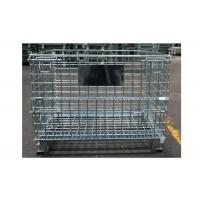 Mobile Steel Wire Mesh Storage Containers Space Saving High Rigidity