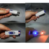 China Ten Color Optional Usb Rechargeable Lighter , Plastic Usb Cigarette Lighter on sale