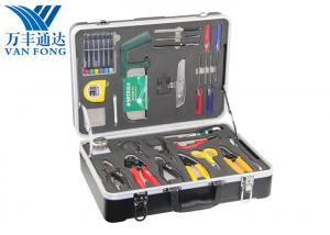 China 26 Tools In One Case Fusion Splicing Tool Kit Fiber Optic Cable Construction Tools on sale