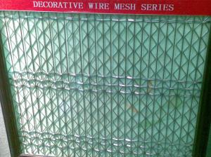 China Diamond hole SS316 Flexi-woven Decorative Architectural mesh fabric for facade wall on sale