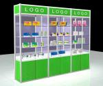 Aluminum Alloy Pharmacy Display Shelves For Medical Store Fixture Easy Install