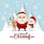 Art Paper Cardstock Charity Christmas Cards With CMYK Printing Color