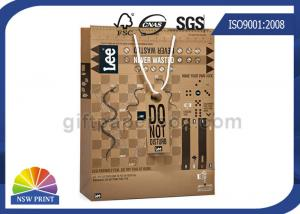 China Customised Creative kraft paper gift bags With PP Rope Handle Tags on sale