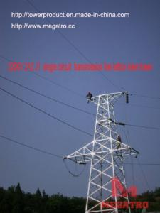 China megatro 220KV 2A2 J1  single circuit  transmission line lattice steel tower on sale