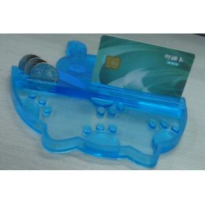 China Eco friendly PVC Coin Tray Blue Durable Coin Tray , Durable Money Tray on sale
