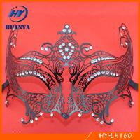 New arrive rhinestones metal black party mask for sale