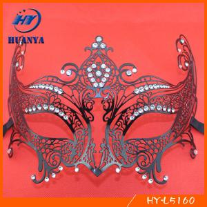 China New arrive rhinestones metal black party mask for sale on sale