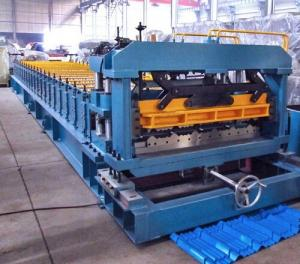 China 7.5 Kw Gimbal Gearbox Drive Roof Rolling Forming Machine PLC Frequency Control System on sale