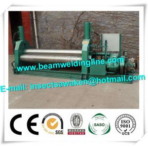 China 3 Roller Hydraulic Symmetrical Plate Rolling Machine For Shipbuilding / Petroleum on sale