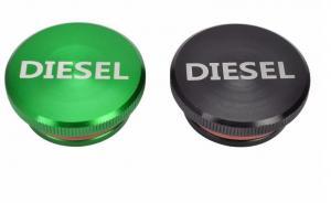 China Billet Aluminum Anodized Green/Black 2013-2017 Dodge Ram Diesel Fuel Cap on sale