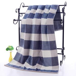 China Plaid Patterned Luxury Cotton Towels on sale