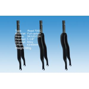 Quality S-Shaped Road Bike Front Forks 380g 43° / 45° Fork Offset HT-FK001 for sale