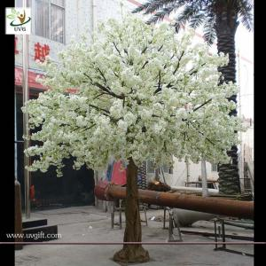 UVG wedding stage decoration use indoor white artificial cherry ...