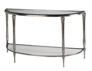 China Stainless Steel Console Table Iron Tempered Glass Long Narrow Console Table on sale