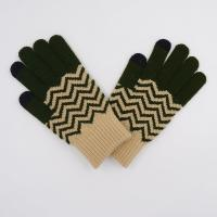 Knitted Cool Cheapest Acrylic Striped Wholesale Smart Finger Touch Phone Custom Magic Gloves