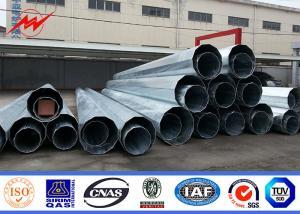 China Custom Electric Steel Unitity Pole , Galvanised Power Pole Q345 Q235 GR65 on sale