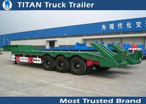 China 3 Axles Low Bed Trailer heavy duty equipment for tracked vehicles , wheel  loaders on sale