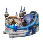 Super Print 0.55mm PVC Tarpaulin Inflatable Dragon Castle For kindergarten