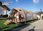 Aluminum Frame Outdoor Luxury Glamping Tents 4x12m For 2-4 People