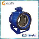 Del sector circular 2PQ340H del lacre doble del metal del actuador vávula de bola manual compensada semi