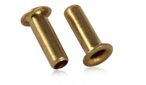 China Brass Tubular Rivets  Brass Pipe Type Rivet Nuts Brass Brake and Clutch Lining Rivets on sale