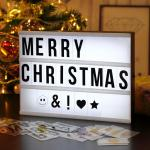 Festival Greetings Customisable Led Message Box Square Acrylic Light Box