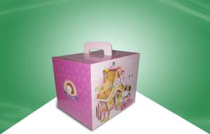 China Small Recyclable Corrugated Paper Food Packaging Boxes OEM / ODM with PET Sheet on sale