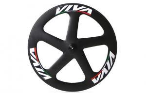 China 700c * 23mm Track Bike Wheel Set , 5 Spoke Track Carbon Disc Wheel Fixed Gear on sale
