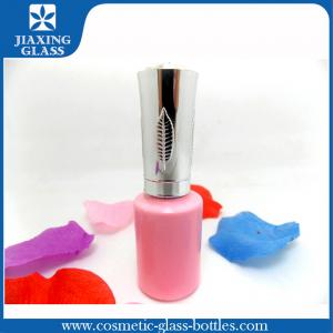 China Customized Cute Pink Nail Polish Bottle With Silver Cap And Brush Eco-friendly on sale