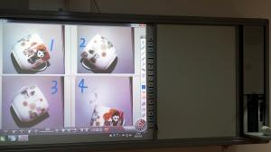 China Finger touch digital Interactive whiteboard system for smart learning double sides design on sale