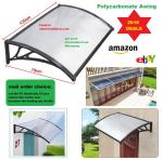 Easy to DIY Polycarbonate PC Awning for door window/Cheap price cover/ house canopy UV pro