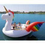 Giant Pool Unicorn Inflatable Water Boat / Inflatable Floating Sofa