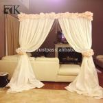 Cheap wedding backdrops upright pole with base plate wedding backdrop design
