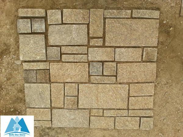 Tiger Skin Yellow Granite Paving Sets Granite Patio Flooring Granite Stone Patio  Pavers Images