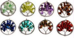 China Personalized Gemstone Beaded Jewelry , Cool Tree Of Life Gemstone Pendant on sale