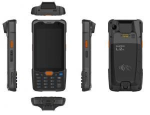 China IP65 Portable Rugged 4G GPS Glonass supported 4 inch touch screen handheld android PDA with 2D scanner on sale