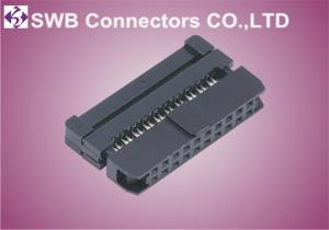China Female Wire to Board 2mm IDC Socket Connector With Strain Relief , Straight Orientation on sale
