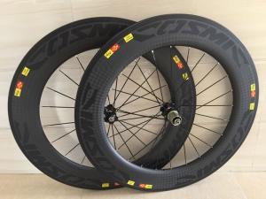 China Carbon Wheels 88mm Tubular Width 23/25mm 700C Road Bike Carbon Wheelset 88mm Carbon Tubular Wheelset Bicycle Wheels on sale