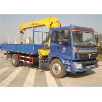 China Sino Truck FOTON  4x2 Truck Mounted Crane 8 Tons Cargo Mounted Straight Arm XCMG Crane