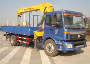 China China Sino Truck FOTON  4x2 Truck Mounted Crane 8 Tons Cargo Mounted Straight Arm XCMG Crane on sale