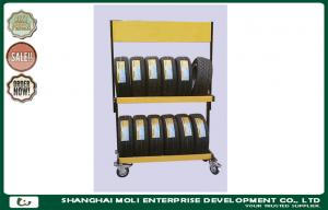 China Foldable steel rolling tire storage rack for warehouse stacking rack on sale