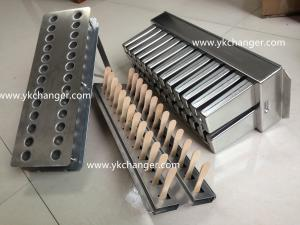 China Metal ice cream popsicle mold set stainless steel 123ml Mexico paletas with stick holder on sale
