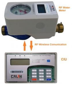 China Split Type Residential Prepaid Water Meters Rf Communication Electronic Latched Valve on sale