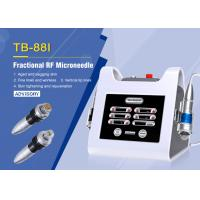 Double Handle Fractional RF Microneedle Machine for Face Body Contouring / Anti - wrinkle