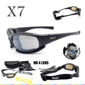 d7f29279b2 DAISY X7 Goggles 4LS Men Military polarized Sunglasses Bullet-proof airsoft